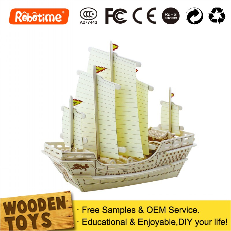 DIY wooden ship <strong>model</strong> 3D Educational Kid Toys Gift Crafts