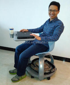 Plastic Swivel University Node Chair with Tablet Arm