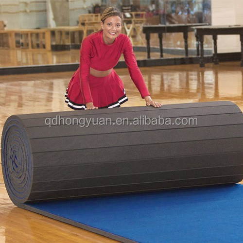 Dollamur flexi roll cheerleading mat/roll up gym mat/carpet wushu mat