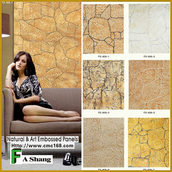 make your home close to nature imitation/faux stone embossed wall panel
