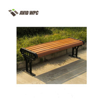 2017 hot new products durable dampproof leisure lowes wpc outdoor garden benches/chair