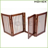 Pet Gate Dog Fence in Nature Pine Wood Homex_BSCI Factory
