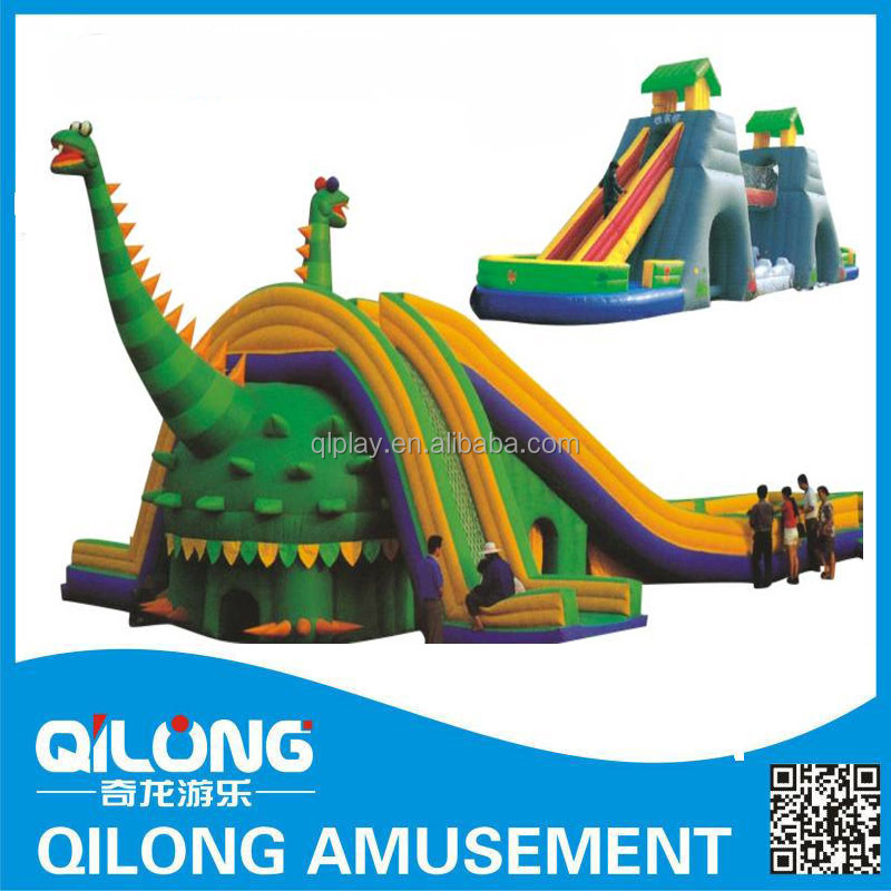 QL10-110A Hot Dinosaur Theme Outdoor Playground Inflatable Slide