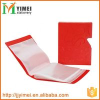 wholesale customized size file holder expanding pp plastic clear display book