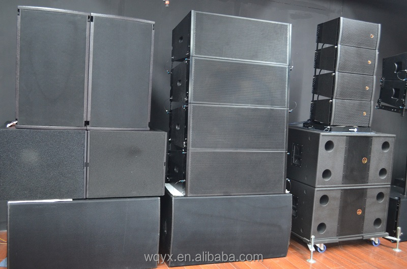 Outdoor powerful public address system+mucical instruments+dual 12inch line array speakers