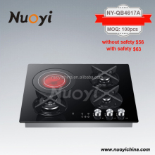 Promotion sales CE,SAA,SII,4 burner gas electric combination ceramic hob/cookers