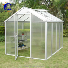 6 rooms garden green house aluminum polycarbonate green house