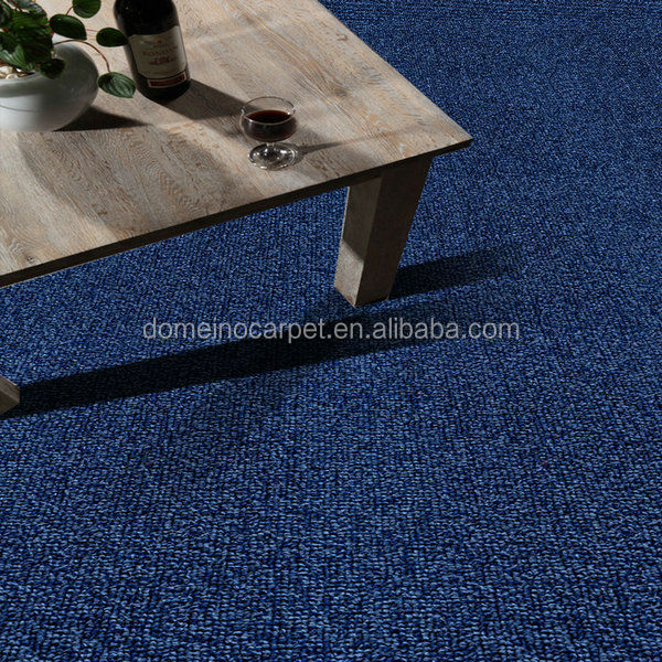 Blue color nylon material office carpet 500x500mm