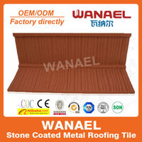 Shake/Wood stone coated metal roof tile,building material prices china