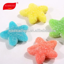 mint flavor halal gummy star shape jelly candy with sugar coated