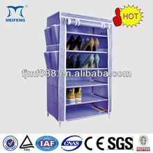 Shoe Organization 6 Tier Covered Shoe Cabinet Shelf