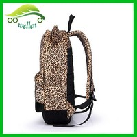fashion leopard backpack stylish cat ear school backpack wholesale