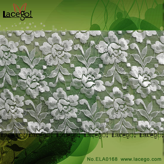China Wholesale Nylon Scalloped Edged Lace Fabric
