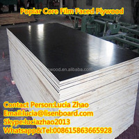 18mm construction material plywood , Poplar formwork board for construction , film faced shuttering plywood