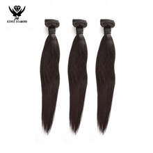 factory wholesale cheap 100% Unprocessed virgin Brazilian human hair extension,natural black color straight wave remy hair weft