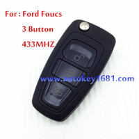 Car Key Alarm For Ford Focus 3 Button Remote Control 433MHZ With 4D63 Chip