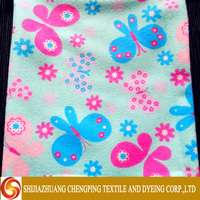 Fashion best selling 100% cotton printed and dyed flannel fabric with construction specification and price for wholesale