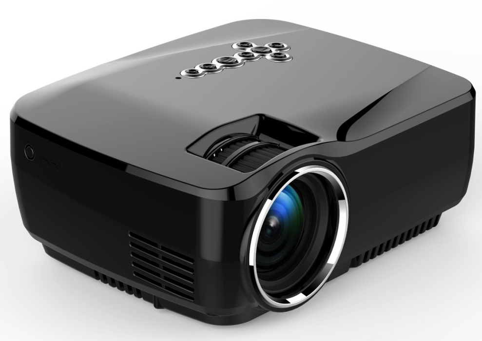 LCD LED Video Multi-media Mini Portable Projector with Free HDMI cable for Home Theater Movie Night Video Games HD Ready