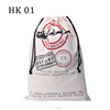 Christmas drawstring gift bag 50*70CM 100% cotton santa sacks wholesale-original factory