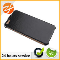 Wholesale mobile phone accessories smoothly leather case for iphone 6 smart case