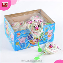 Customized Pig Shape Marshmallow Lollipop