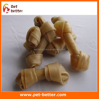 hot sell 2014 new products natural knotted bone rawhide dog bones dog chews dog treat dog snack Made in China