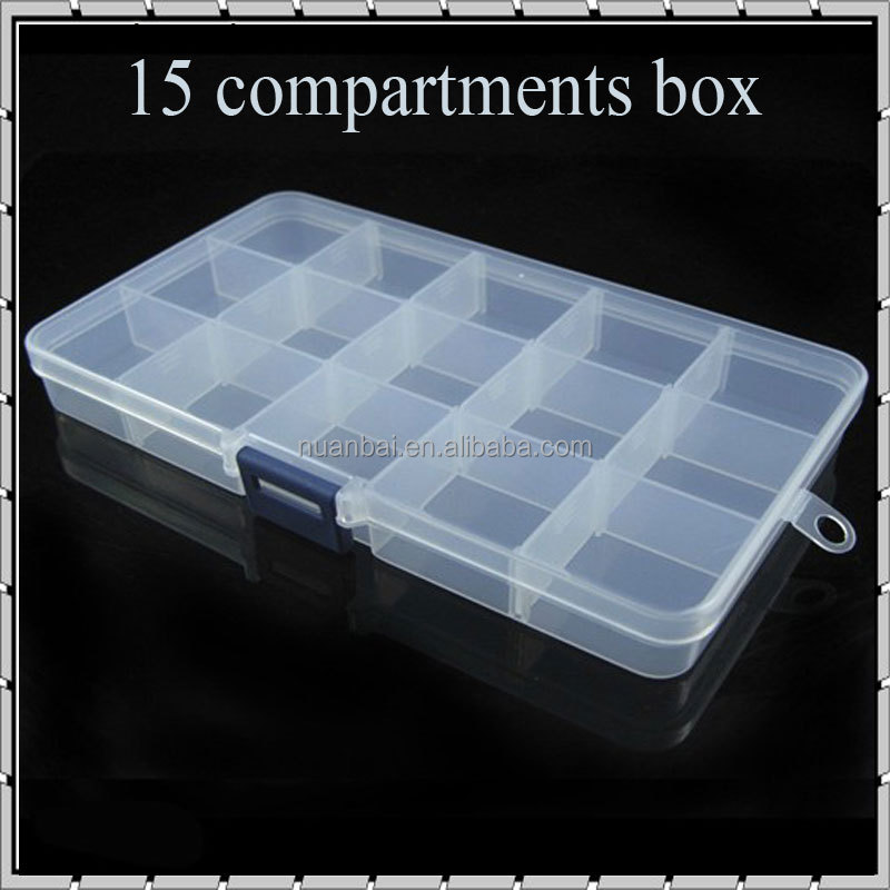 15/24/36 Grid Clear Adjustable Plastic Jewelry Bead Organizer box Storage Container case