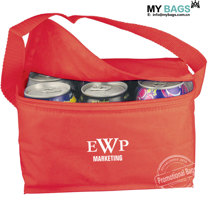 Penguin Zipper improved Large Reusable Insulated Grocery Tote bag