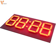 time date temperature display large screen outdoor led digital clock