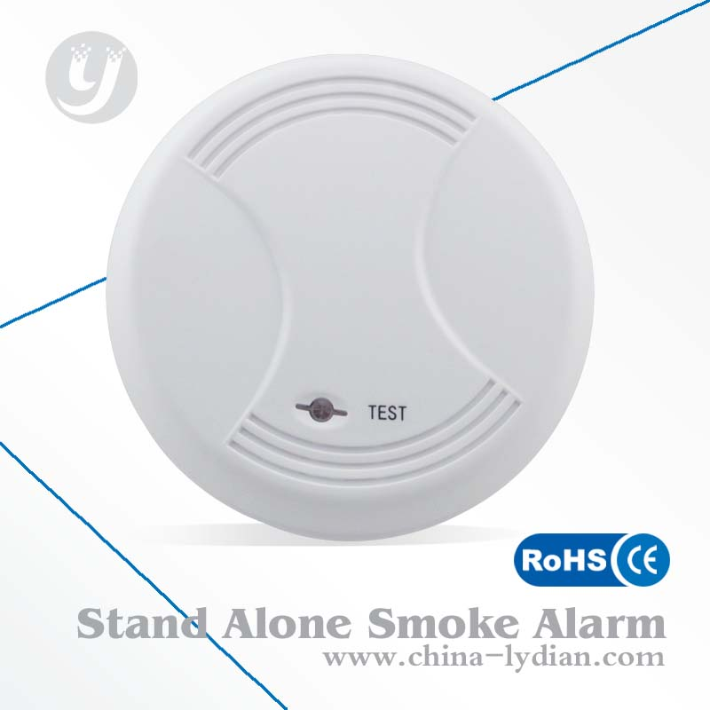 Home security system hard wired smoke detectors