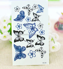 Butterfly stickers type temporary body tattoo sticker