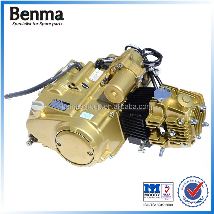 Types Of Motorcycle Engines: Chinese Standard Single Cylinder Horizontal Type Gold