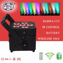 Wedding event Party led uplight wireless dmx battery power led stage par light flat