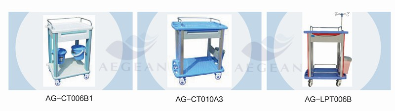 AG-CHT010 centralized lock hospital surgical instrument steel tabletop medical records trolley