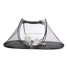 China pet supply hot selling custom pet tent outdoor foldable pop up pet tent