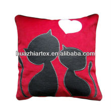 lovely style cushion, Cat embroidery/applique cushion Cover 45 x 45