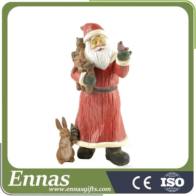Wholesale Christmas Gifts Resin Santa Statue