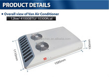 Engine driven KT-12 12v/24v Roof-mounted air conditioning unit for bus, mini bus, van used