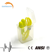 Eco friendly silicone earplugs noise reduction with cord SNR30