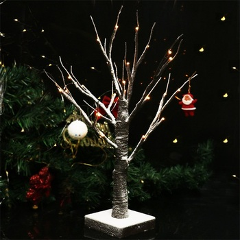 2018 Best Selling 24 led Warm White Lighted Snow Dusted Bonsai Tree