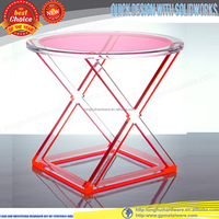 round acrylic dinner table