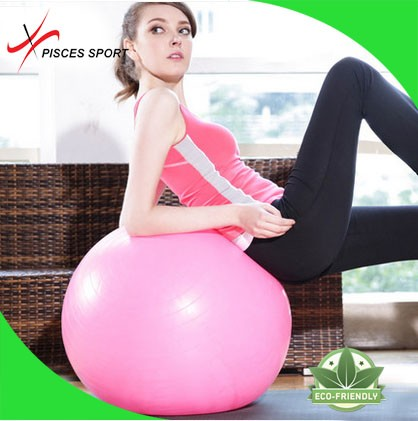 Anti-Burst and Slip Resistant Fitness Ball with Pump