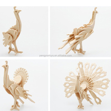 Adorn Life 3D Wooden Animal Puzzle DIY Assembly Model Toy