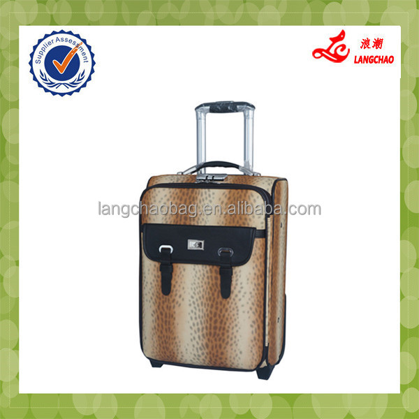 Easy clean and carry trolley luggage Sky Travel Bag