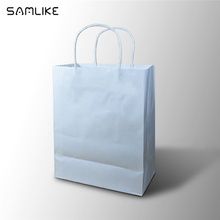 High Quality Luxury White Kraft Paper Shopping Bag