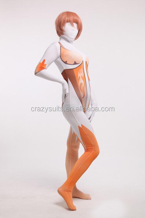 Mulheres Sexy de Corpo Inteiro Lycra Spandex Zentai Ternos Da Pele Cosplay Vestido de Festa