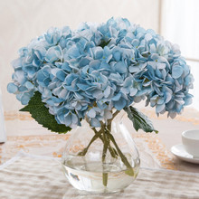 Creative home furnishing articles european-style ornaments simulation single hydrangea silk flowers wedding holding fake flower