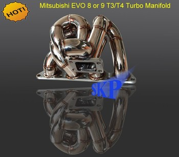 T3 T4 TURBO MANIFOLD FOR MITSUBISHI LANCER EVOLUTION EVO 7 8 9 MR 2001-2007