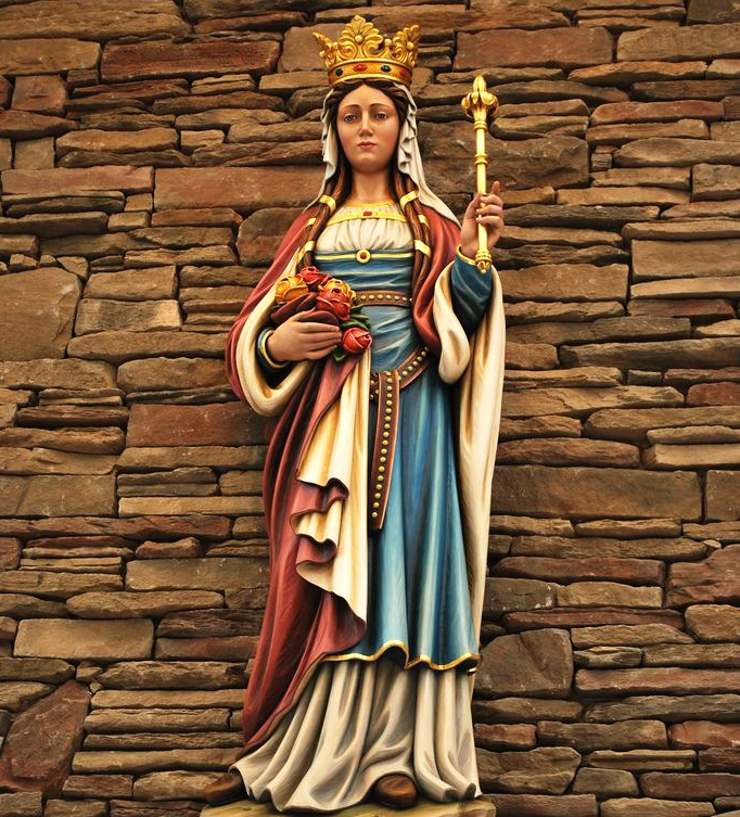 Religious church character ornaments fiberglass St Elizabeth goddess sculpture