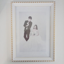Best Quality French Style Photo Frame with White-Golden Color